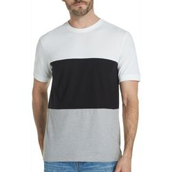 Weatherproof Mens Heathered Colorblock Crew T-Shirt