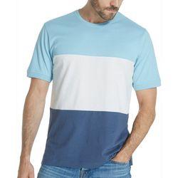 Weatherproof Mens Colorblock Heathered Crew T-Shirt