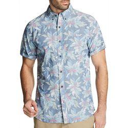 Weatherproof Mens Tropical Floral Print Short Sleeve Shirt
