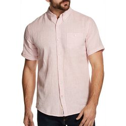 Weatherproof Mens Marled Linen Shirt