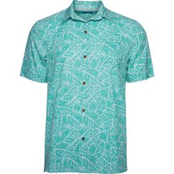 Caribbean Joe Mens Leaf Time Button Down Shirt