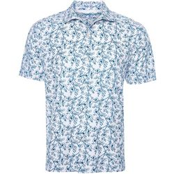 Caribbean Joe Mens Tonal Palm Button Down Shirt