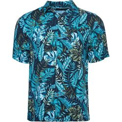 Caribbean Joe Mens Jungle Love Button Down Shirt