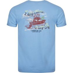 Caribbean Joe Mens Palm & Boat Short Sleeve T-Shirt