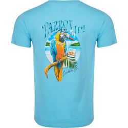 Caribbean Joe Mens Parrot Up Short Sleeve T-Shirt