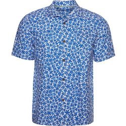 Caribbean Joe Mens Floral Button Down Shirt