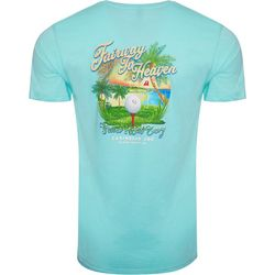 Caribbean Joe Mens Fairway to Heaven Short Sleeve