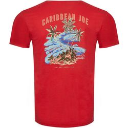 Caribbean Joe Mens Palm Island Short Sleeve T-Shirt
