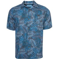 Caribbean Joe Mens Leaf Camp Button Down Shirt