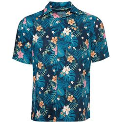 Caribbean Joe Mens Hibiscus Camp Button Down Shirt
