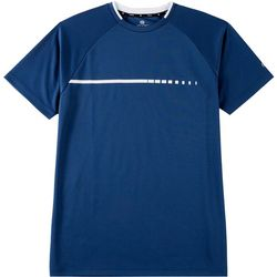 Etonic Mens Solid Mesh Crew Neck T-Shirt