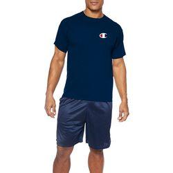Champion Mens Big & Tall Logo Crew Neck Short Sleeve T-Shirt