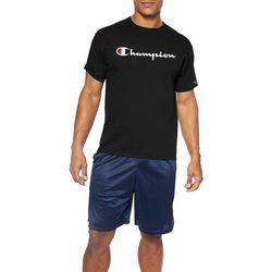 Champion Mens Big & Tall Jersey Script Logo T-Shirt