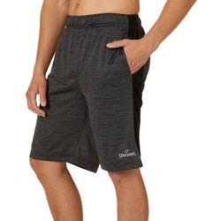 Spalding Mens Space Dye Fusion Athletic Shorts