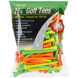 World of Golf 100-pk. Neon Extra Long Golf Tees