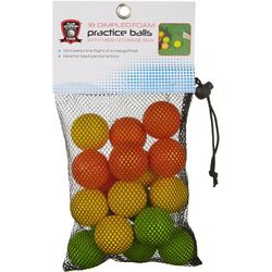 World of Golf 18-pk. Dimpled Foam Practice Balls
