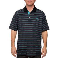 Pebble Beach Mens Stripe Performance Polo Shirt