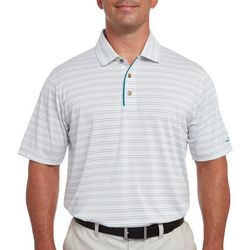 Pebble Beach Mens Finelife Stripe Polo Shirt
