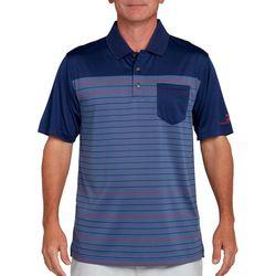 Pebble Beach Mens Jersey Stripe Pocket Polo Shirt