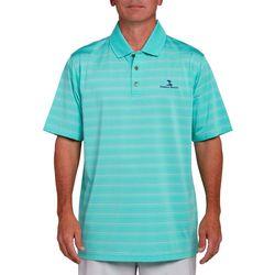 Pebble Beach Mens River Jersey Jacquard Stripe Polo Shirt