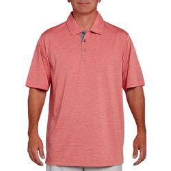 Pebble Beach Mens Heather Jersey Stripe Polo Shirt