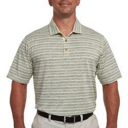 Pebble Beach Mens Striped Distressed Polo Shirt