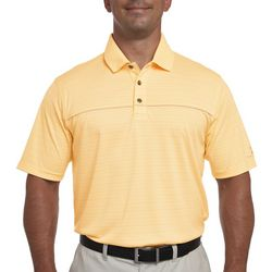 Pebble Beach Mens Textured Tonal Stripe Polo Shirt