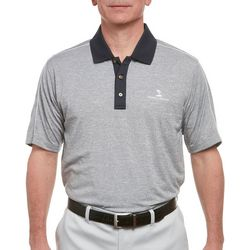 Pebble Beach Mens Heathered Jersey Polo Shirt