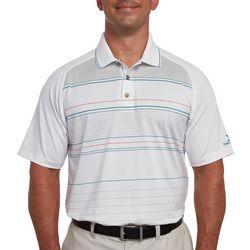 Pebble Beach Mens Stripe Print Raglan Polo Shirt