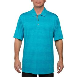 Pebble Beach Mens Stripe Performance Golf Polo Shirt