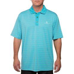 Pebble Beach Mens River Space Dye Stripe Polo Shirt