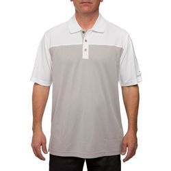 Pebble Beach Mens Colorblock Birdseye Pique Polo Shirt