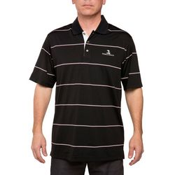 Pebble Beach Mens Dark Jersey English Stripe Polo Shirt