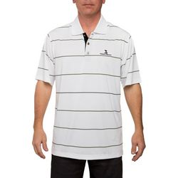 Pebble Beach Mens Light Jersey English Stripe Polo Shirt