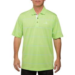 Pebble Beach Mens Parachute Jersey English Stripe Polo Shirt