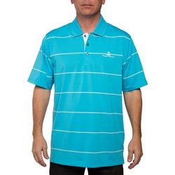 Pebble Beach Mens River Jersey English Stripe Polo Shirt