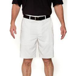 Pebble Beach Mens Marled Plaid Shorts