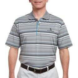 Pebble Beach Mens Engineered Stripe Jersey Polo Shirt