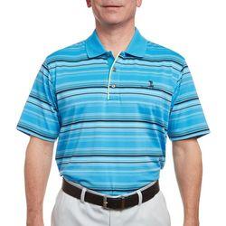 Pebble Beach Mens Stripe Jersey Polo Shirt