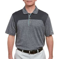 Pebble Beach Mens Heathered Colorblock Polo Shirt
