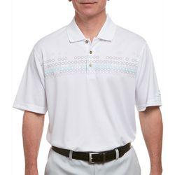 Pebble Beach Mens Multi Stripe Print Jersey Polo Shirt