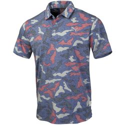 Puma Golf Mens Raleigh Camo Polo Shirt