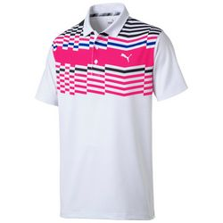 Puma Golf Mens Road Map Polo Shirt