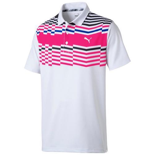 Puma Golf Mens Road Map Polo Shirt