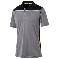 Puma Golf Mens Bonded Colorblock Golf Polo Shirt