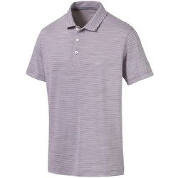 Puma Golf Mens Caddie Stripe Polo Shirt