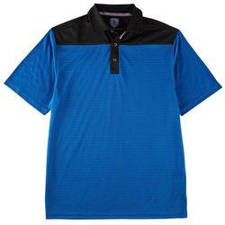 Golf America Mens Royal Blue Pieced Polo Shirt