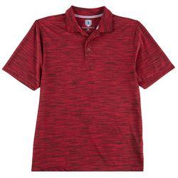 Golf America Mens Space Dye Print Polo Shirt