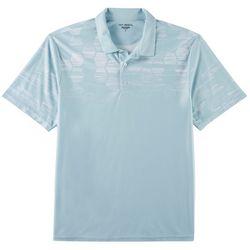 Golf America Mens Geo Hexagon Print Performance Polo Shirt
