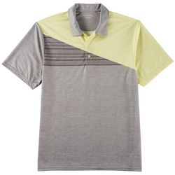 Golf America Mens Diagonal Stripe Performance Polo Shirt